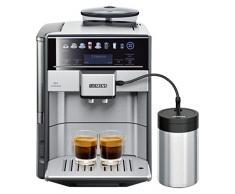 Siemens te617 F03de Espresso Machine 1.7L 2tasses - Cafetière (autonome, entièrement automatique, Espresso Machine, grains de café, cappuccino, expresso, noir, acier inoxydable)