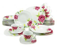 Creatable 19710 Amelie Service de table Porcelaine Multicolore 35 x 30 x 33 cm Lot de 30
