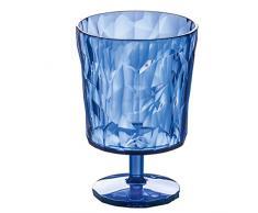 Koziol 3577636 Crystal 2.0 Verre à Pied Plastique Transparent/Bleu 6,4 x 6,4 x 10 cm 250 ml