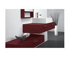 MobilierMoss 13432521898 Tonia Ensemble de salle de bain design 1 vasque MDF Bordeaux 100 x 48 x 20 cm