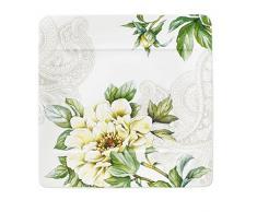 Villeroy & Boch 10-4380-2640 Assiette à Dessert Porcelaine Rose 25 x 25 x 9,5 cm Convient pour 1Personne