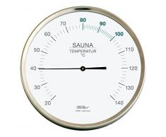 Fischer sauna, thermomètre, Acier inoxydable, 130x 130mm