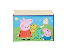 Peppa Pig 866305 Peppa Pig Coffre de rangement Bois Bleu 60 x 39,5 x 39,5 cm