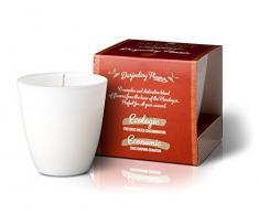 The Greatest Candle In The World Bougie avec Parfum de Darjeeling Flower, Cire végétale et Verre, Blanc, 8.2x 8.2x 8.8cm