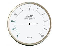 Fischer sauna hygromètre, Acier inoxydable, 130x 130mm