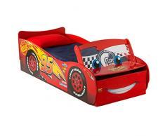 Disney Cars Lightning McQueen Lit pour Garçons avec Rangement et Pare-Brise Lumineux