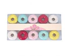 Party Pro Guirlande Donuts Lumineuse, Plastique, Multicolore, 160 x 6 x 3 cm