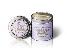 The Greatest Candle In The World Bougie canette avec Parfum de Hand Picked Blueberry, Cire végétale, Blanc, 7.5 x 7.5 x 7.8 cm