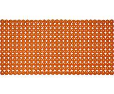 ID Mat 763216 Bulles Tapis Fond de Baignoire PVC Orange 72 x 36 x 0,4 cm