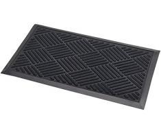 Addis Thirsk Paillasson avec motif très absorbante 100% polypropylène Parquet à poils longs, Noir, 70x 40cm