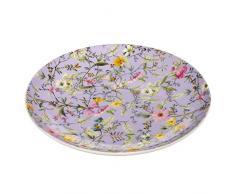 Maxwell & Williams Assiette wk11520Kilburn dhiver Bloom, 20cm, boîte Cadeau, Porcelaine, Violet/Multicolore