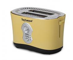 Techwood Grill Pain 2 Fentes 850 W, Jaune