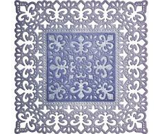 Cercles Lynn Designs Fleur de Lis napperon carré Die, acrylique, multicolore, 4 0.125 x 4 0.125-inch