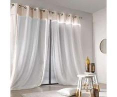 Linder 38VDFR Rideau Lumineux à œillets Polyester Blanc 260 x 150 cm