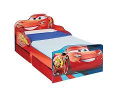 Cars Disney Lit pour Enfant avec Espace de Rangement Bois 143 x 77 x 63 cm