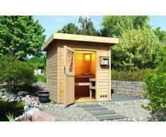 Karibu Sauna extérieur toit plat Torge