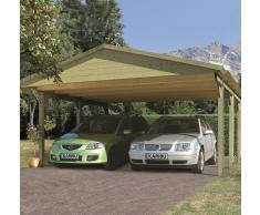 KARIBU Carport bois garage avec toit à double pente