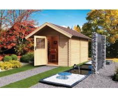 karibu Sauna extérieur 38 mm CHALET 3