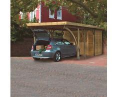 Karibu Carport simple - Classic 1 toit PVC - l.318 x P.480 cm (sans option atelier)