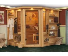 Sauna bois massif 40 mm Riona - Premium