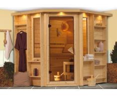 Sauna bois massif 40 mm Cortona - Premium