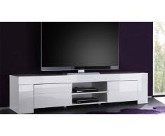 MobilierMoss Meuble TV design laqué blanc 190 cm Magao