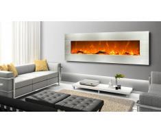 MobilierMoss Grande Cheminée électrique design inox 182 cm - Kaminox Luxury
