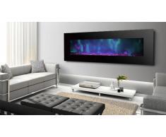 MobilierMoss Cheminée électrique design 182 cm -Luxury Kamin 72 Negro 5xl