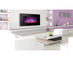 MobilierMoss Cheminée électrique xxl à LED multicolore - Black Kamin 480