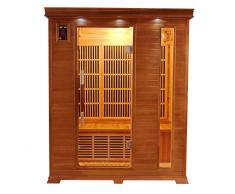 items-france LUXE 3 PL - Sauna infrarouge luxe 3 places 153x110x190cm