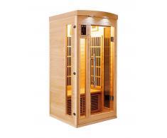items-france APOLLON 1 PL - Sauna infrarouge apollon 1 place 90x90x190cm