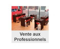 Pack table haute illo 4 pers + 4 tabourets dollo rouge