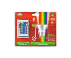 VISION-EL - Ampoule LED RGB 3W E27 + télécommande