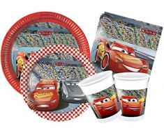 Kit Party Table Disney Cars 3 L (24 Persone) Rouge