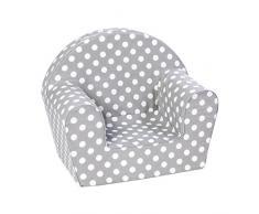 Knorrtoys 68340 Chaise pour Enfant Dots Grey