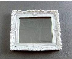 Wonham Maison De Poupées Miniature Chambre Salon Accessoire De Salle De Bain Blanc Shabby Chic Miroir