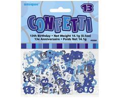Unique Party 55084 - Confettis Glitz Bleus de 13ème Anniversaire