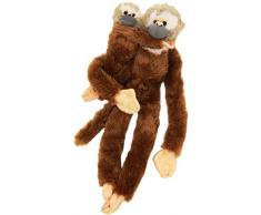 Wild Republic Singe écureuil à Suspendre 51 cm Mama avec Peluche pour bébé