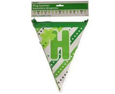 14 m multi-patterned Happy St. Patricks Day papier guirlande drapeaux