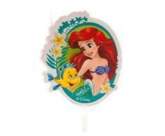 Dekora-346222 Bougie Anniversaire Fille 2D de La Petite Sirene, 346222, Vert