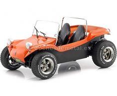Solido- Meyers Manx Buggy-Soft Roof Orange-1/18-S1802702 Voiture Miniature de Collection, 1802702, Orange