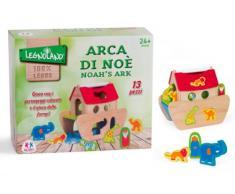 Globo Toys 36591 Legnoland Arche de Noé Jouet en Bois avec 12 Figures