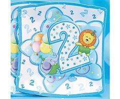 Givi Itali 19 cm Minimum 2 bébé garçon Assiettes Carrées (Lot de 10)