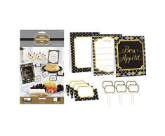 amscan 281003 Noir Buffet kit de décoration pour
