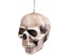 Décoration à suspendre crâne 20 cm Halloween - Taille Unique