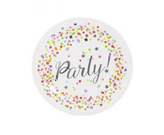 Folat Neu Assiette Confettis Party, Lot de 8