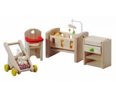 PlanToys - PT7329 - Jouet en bois - La chambre de bébé, en bois dHévéa