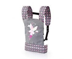 Bayer Design- Porte bébé pour Poupon, EasyCarry, Accessoires Poupées, Sac à Dos, réglable, 62266AA, Gris avec fée