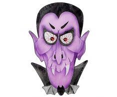 Widmann Generique - Décoration Vampire Violet 36 x 57 cm Halloween