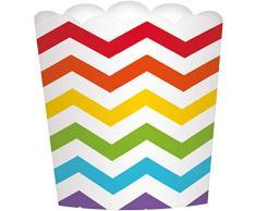 amscan 141402 Rainbow Buffet Grande festonné Tasses